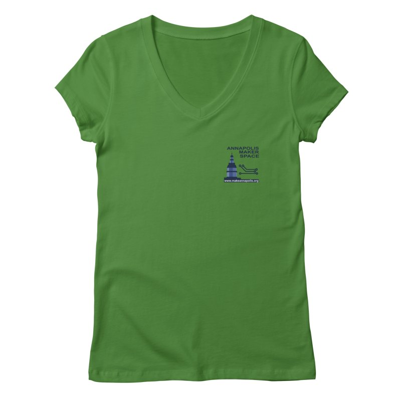 Logo - Small Women's V-Neck by Annapolis Makerspace's Shop