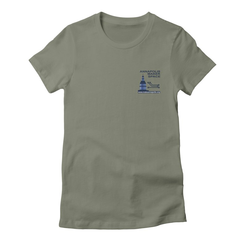 Logo - Small Women's Fitted T-Shirt by Annapolis Makerspace's Shop