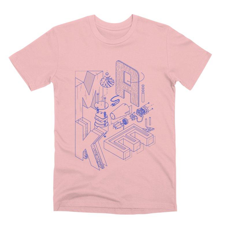 iso_MAKE Men's T-Shirt by Maker Wear