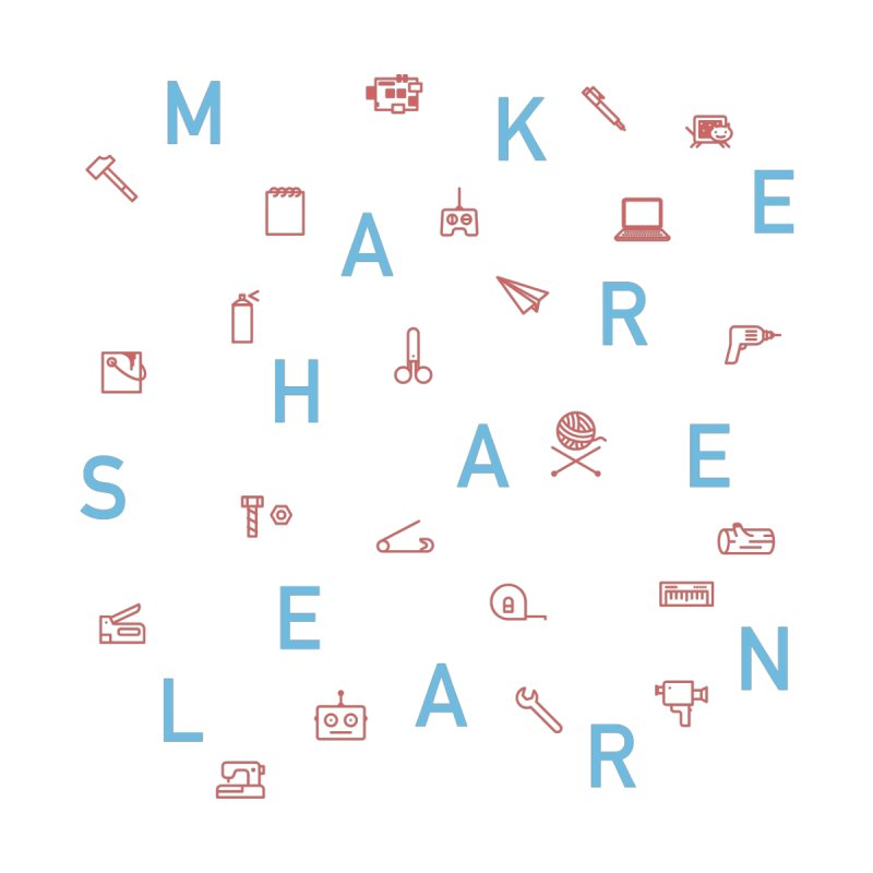 Make Share Learn Men's T-Shirt by Maker Wear