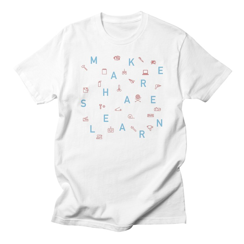 Make Share Learn Men's Regular T-Shirt by Maker Wear