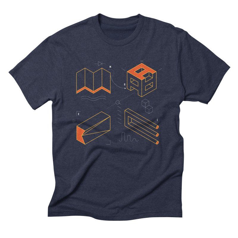 MAKE Men's Triblend T-Shirt by Maker Wear