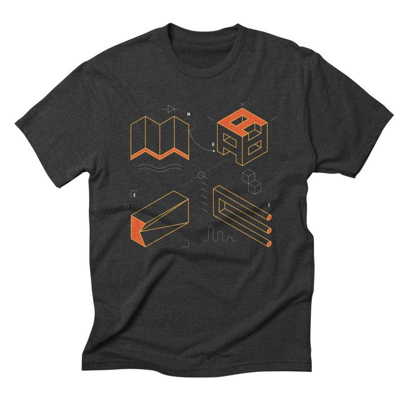 MAKE Men's Triblend T-Shirt by Maker Wear