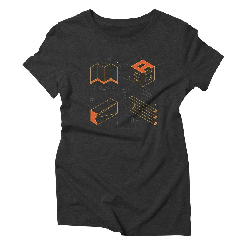 MAKE Women's Triblend T-Shirt by Maker Wear