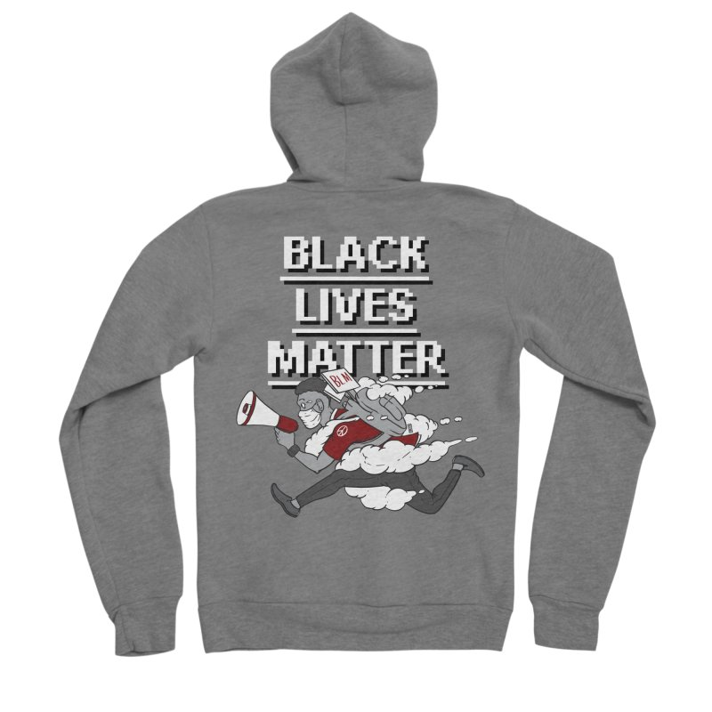 Urgent Messenger by Keni Thomas for Black Lives Matter Men's Zip-Up Hoody by Make with Jake Nickell, The Coolest Dude on Earth