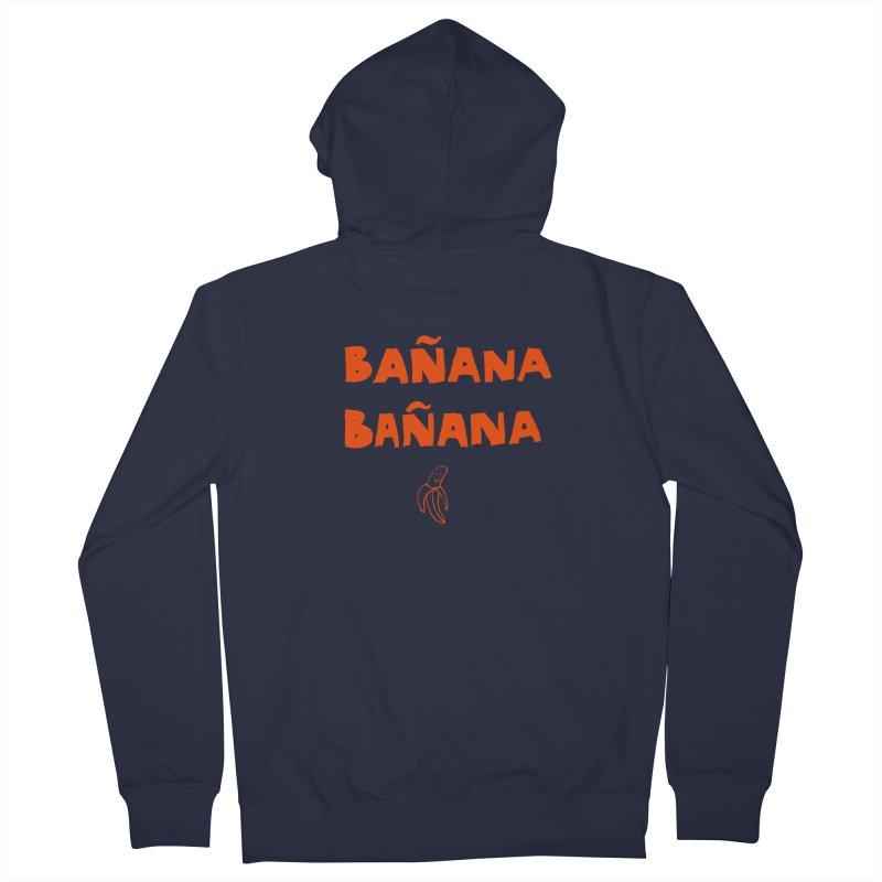 Bañana Bañana Men's Zip-Up Hoody by MAKI Artist Shop