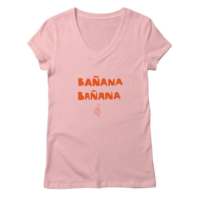 Bañana Bañana Women's V-Neck by MAKI Artist Shop