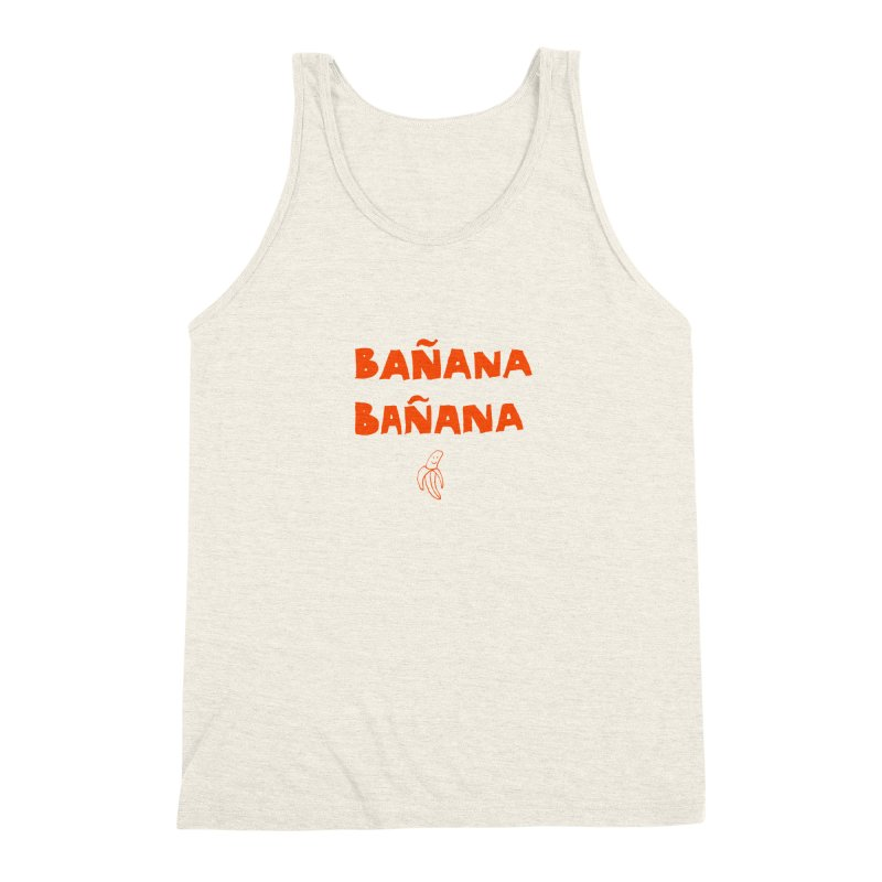 Bañana Bañana Men's Triblend Tank by MAKI Artist Shop
