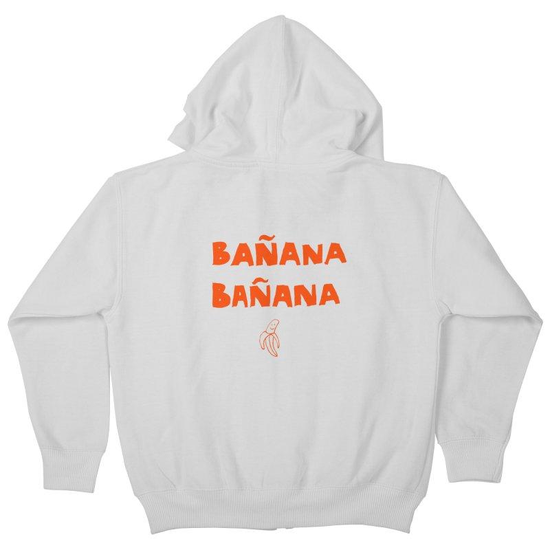 Bañana Bañana Kids Zip-Up Hoody by MAKI Artist Shop