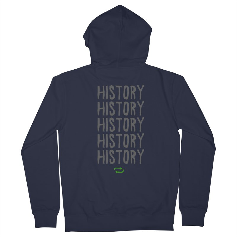 History Repeating Women's Zip-Up Hoody by MAKI Artist Shop