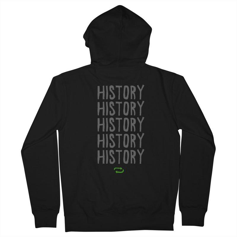 History Repeating Men's Zip-Up Hoody by MAKI Artist Shop