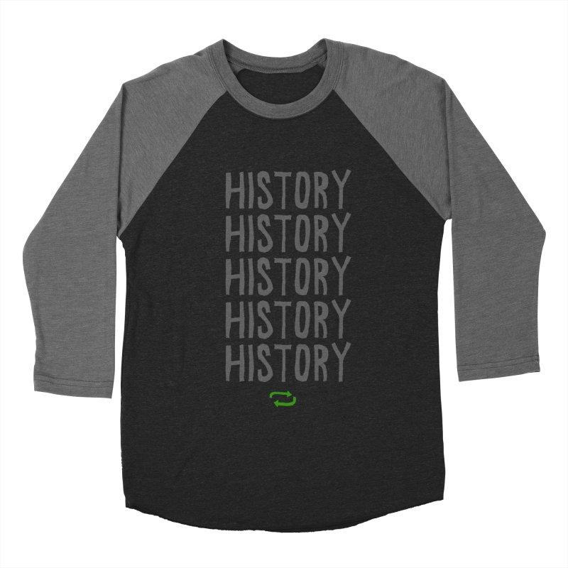 History Repeating Men's Baseball Triblend T-Shirt by MAKI Artist Shop