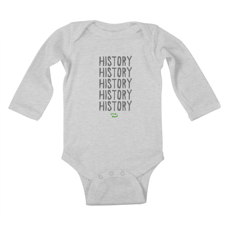 History Repeating Kids Baby Longsleeve Bodysuit by MAKI Artist Shop