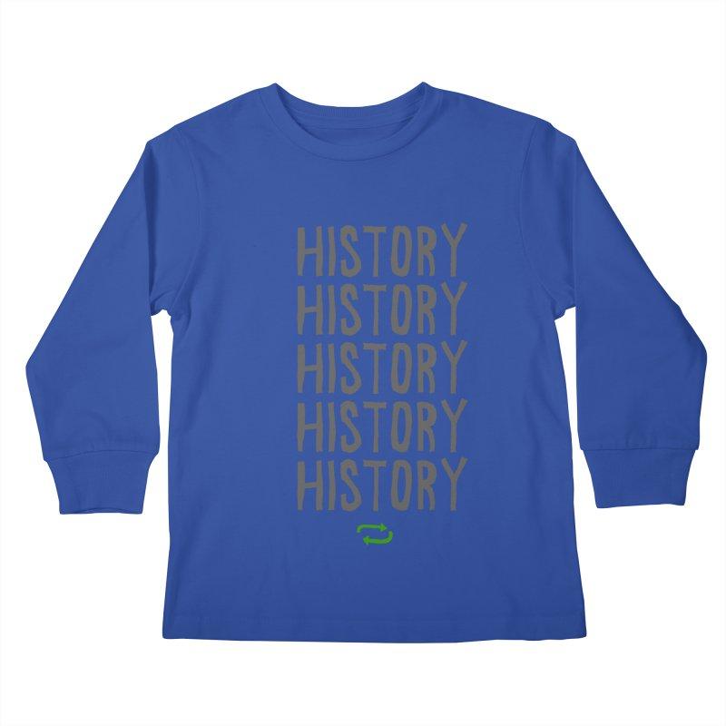 History Repeating Kids Longsleeve T-Shirt by MAKI Artist Shop