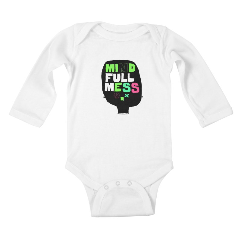 Mind Full Mess Kids Baby Longsleeve Bodysuit by MAKI Artist Shop