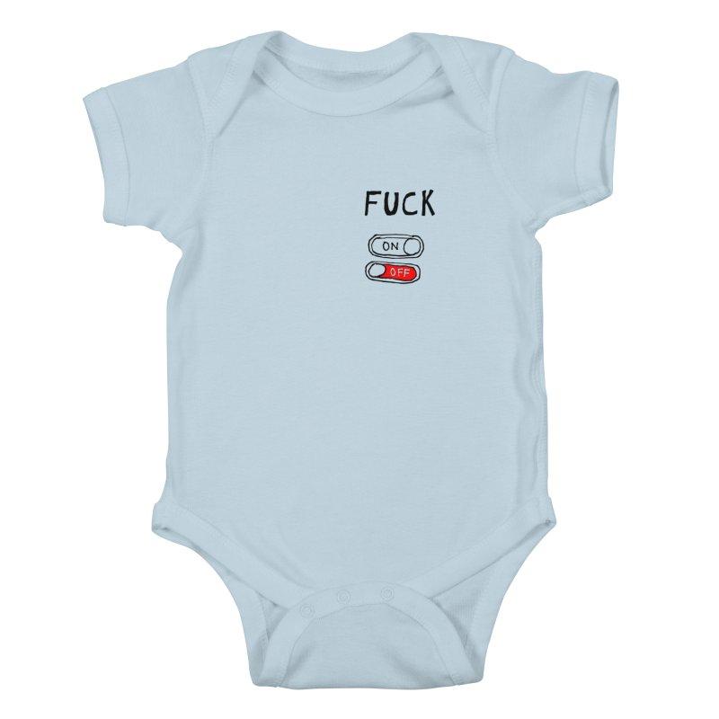 On/Off Kids Baby Bodysuit by MAKI Artist Shop