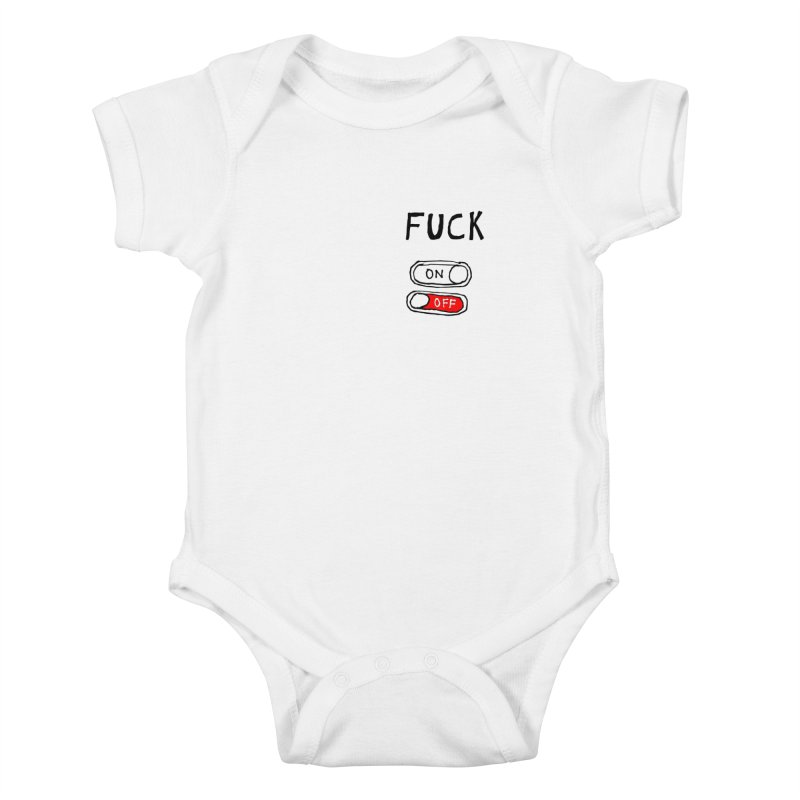 On/Off Kids Baby Bodysuit by MAKI Artist Shop