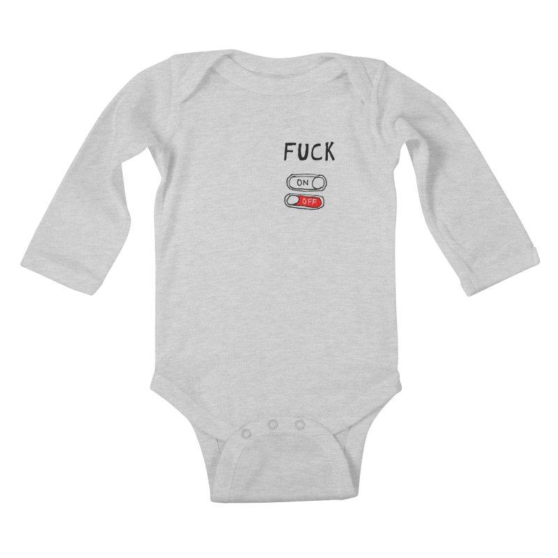 On/Off Kids Baby Longsleeve Bodysuit by MAKI Artist Shop