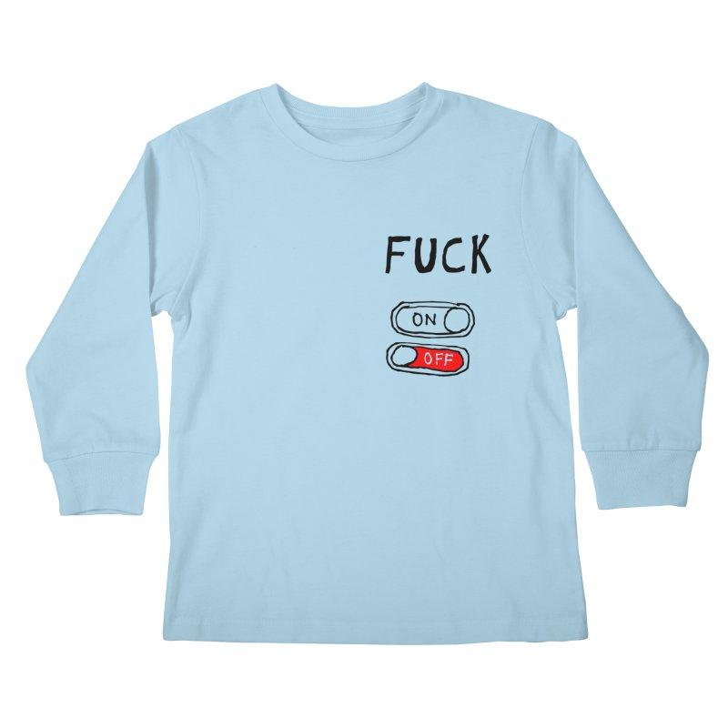 On/Off Kids Longsleeve T-Shirt by MAKI Artist Shop