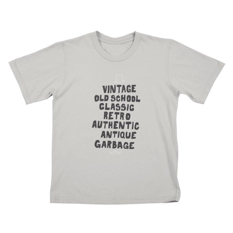 Vintage Garbage Kids T-Shirt by MAKI Artist Shop