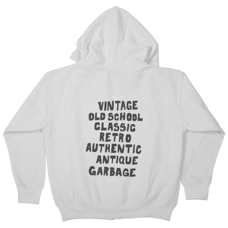 Vintage Garbage Kids Zip-Up Hoody by MAKI Artist Shop