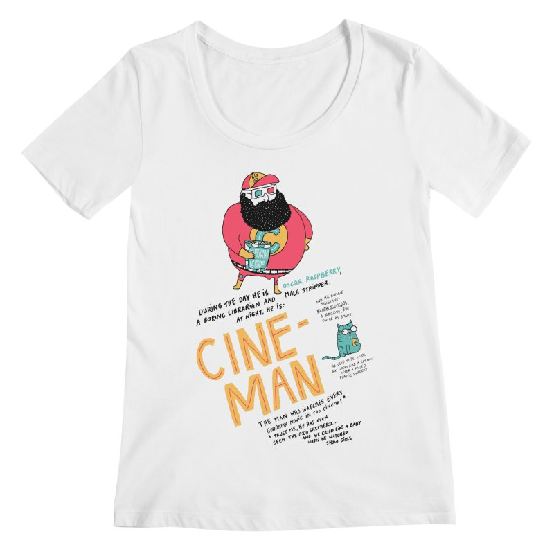 Cineman Women's Scoopneck by MAKI Artist Shop