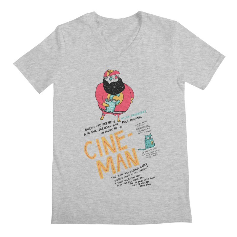 Cineman Men's V-Neck by MAKI Artist Shop