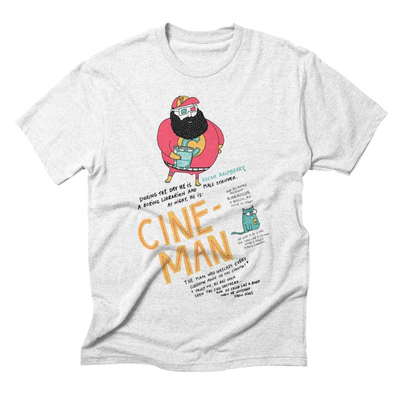 Cineman Men's Triblend T-shirt by MAKI Artist Shop