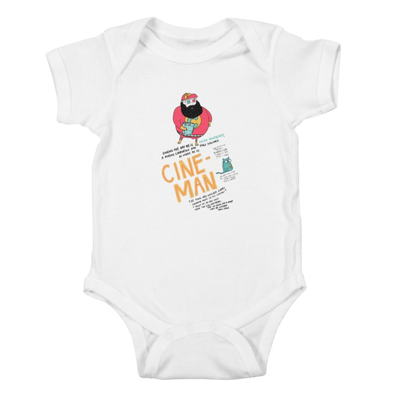 Cineman Kids Baby Bodysuit by MAKI Artist Shop