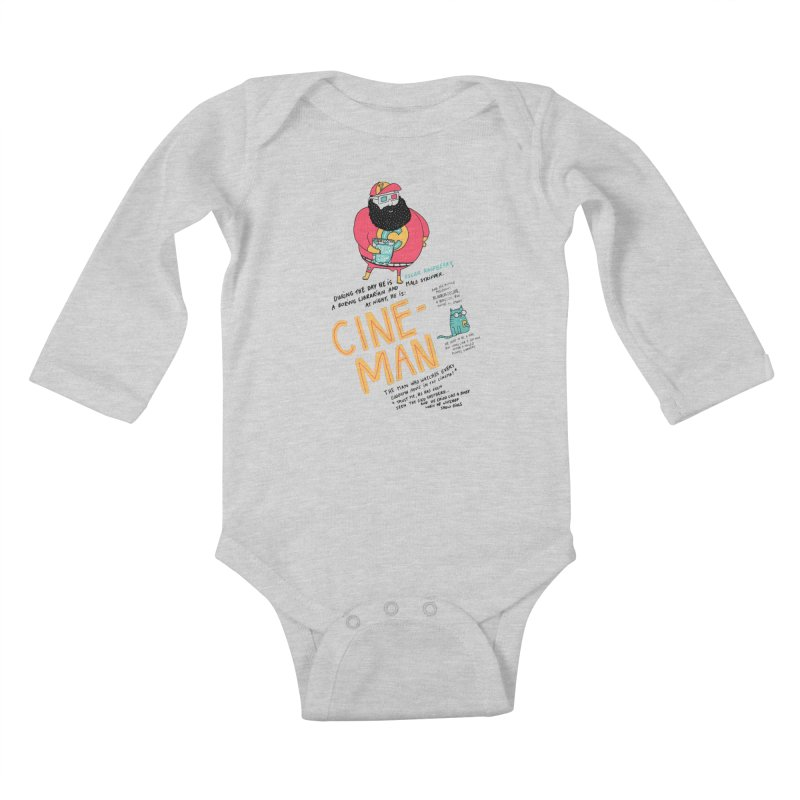 Cineman Kids Baby Longsleeve Bodysuit by MAKI Artist Shop