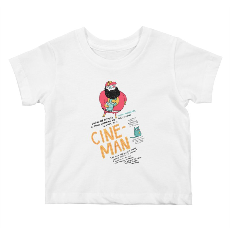 Cineman Kids Baby T-Shirt by MAKI Artist Shop
