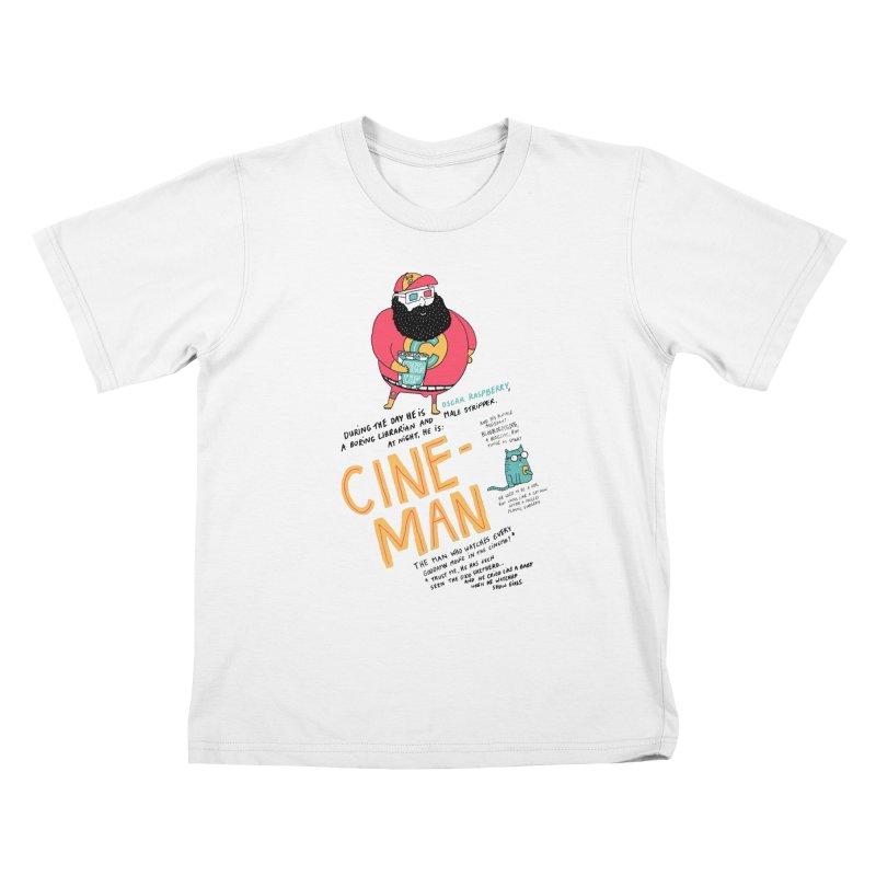 Cineman Kids T-Shirt by MAKI Artist Shop