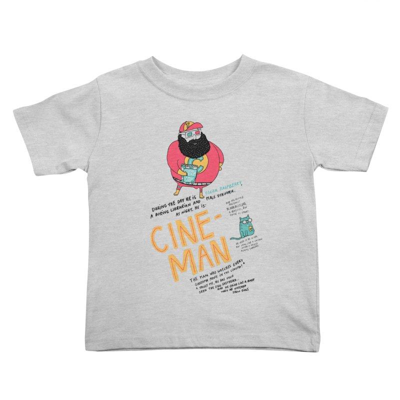 Cineman Kids Toddler T-Shirt by MAKI Artist Shop