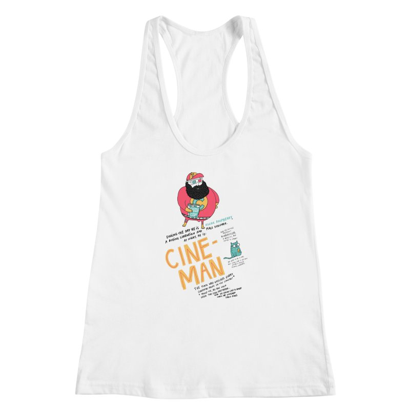 Cineman Women's Racerback Tank by MAKI Artist Shop