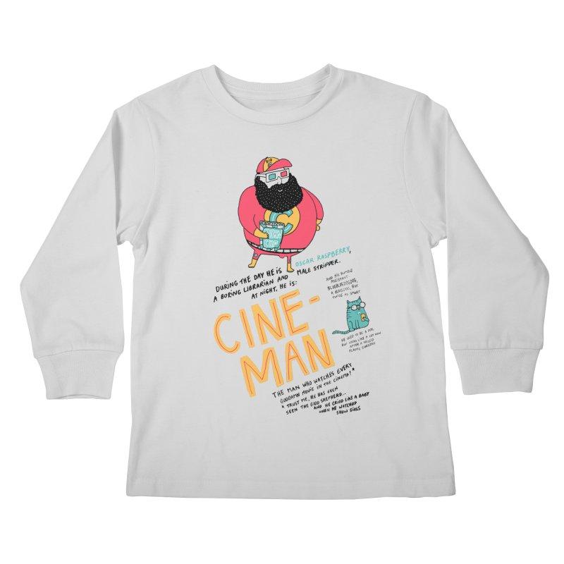Cineman Kids Longsleeve T-Shirt by MAKI Artist Shop