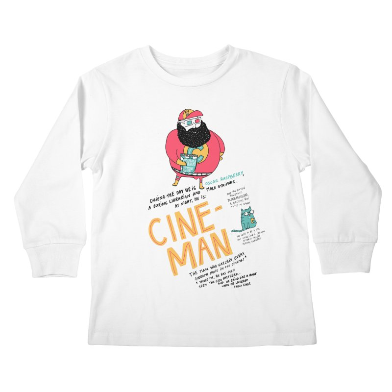 Cineman Kids Longsleeve T-Shirt by MAKI Artist Shop