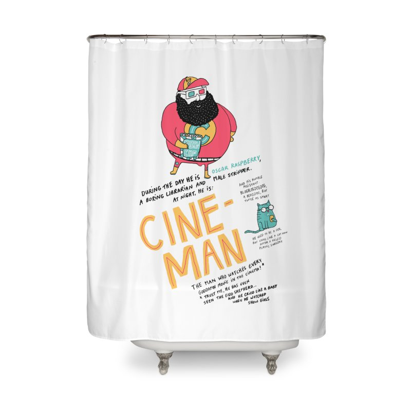 Cineman Home Shower Curtain by MAKI Artist Shop
