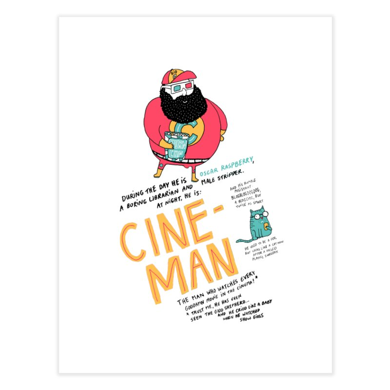 Cineman Home Fine Art Print by MAKI Artist Shop