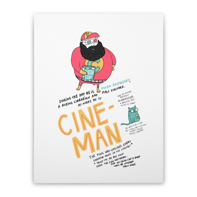 Cineman Home Stretched Canvas by MAKI Artist Shop