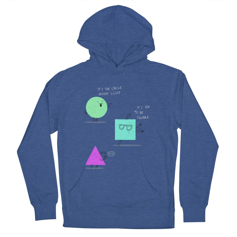 Shapes Women's French Terry Pullover Hoody by MAKI Artist Shop
