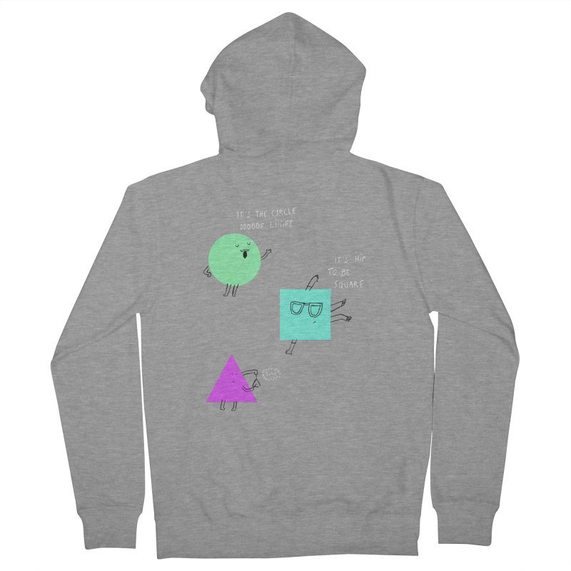 Shapes Women's French Terry Zip-Up Hoody by MAKI Artist Shop
