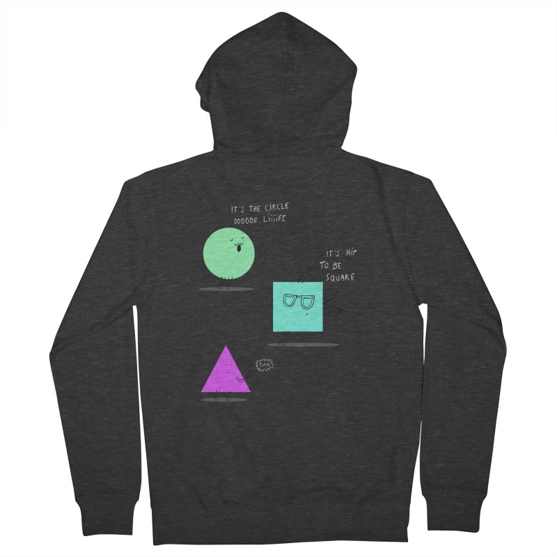 Shapes Men's French Terry Zip-Up Hoody by MAKI Artist Shop