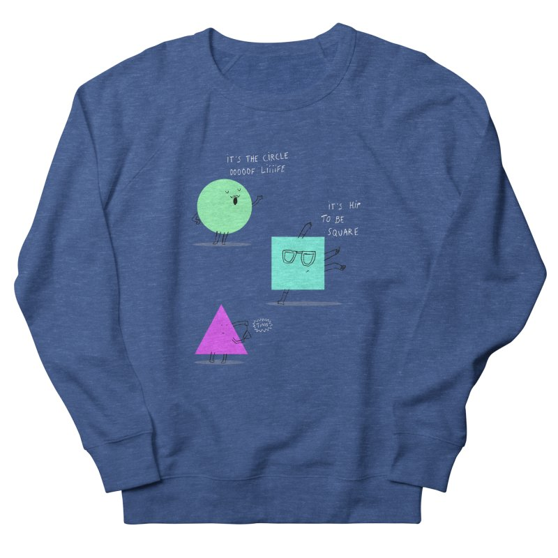 Shapes Women's French Terry Sweatshirt by MAKI Artist Shop