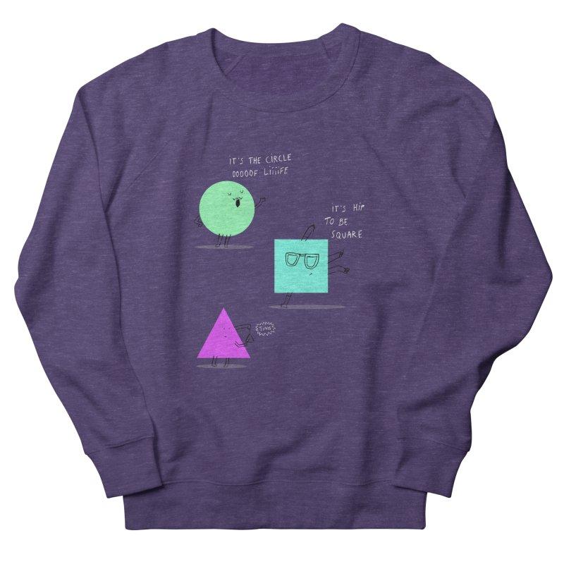 Shapes Women's French Terry Sweatshirt by MAKI Artist Shop