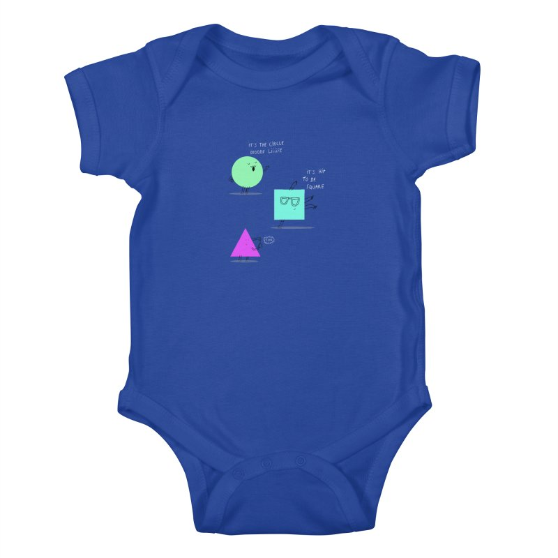 Shapes Kids Baby Bodysuit by MAKI Artist Shop