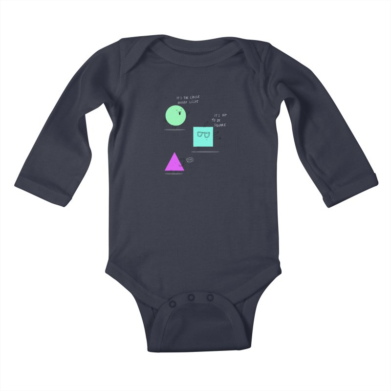 Shapes Kids Baby Longsleeve Bodysuit by MAKI Artist Shop