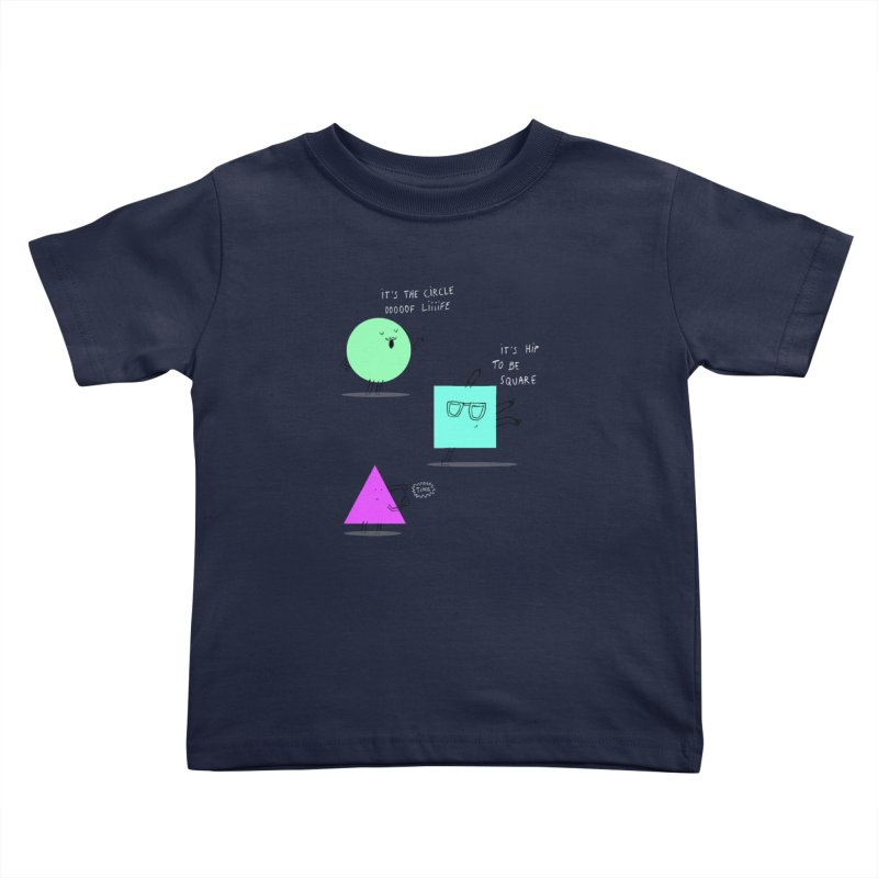 Shapes Kids Toddler T-Shirt by MAKI Artist Shop