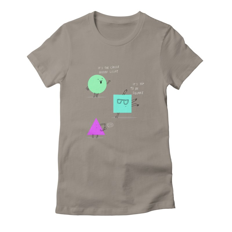 Shapes Women's Fitted T-Shirt by MAKI Artist Shop