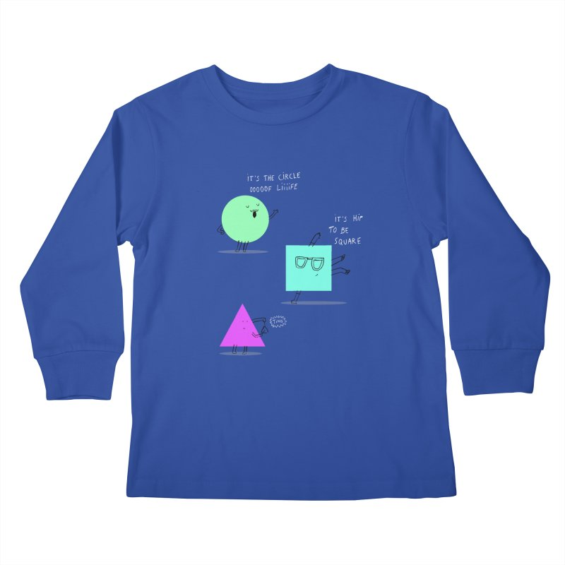 Shapes Kids Longsleeve T-Shirt by MAKI Artist Shop