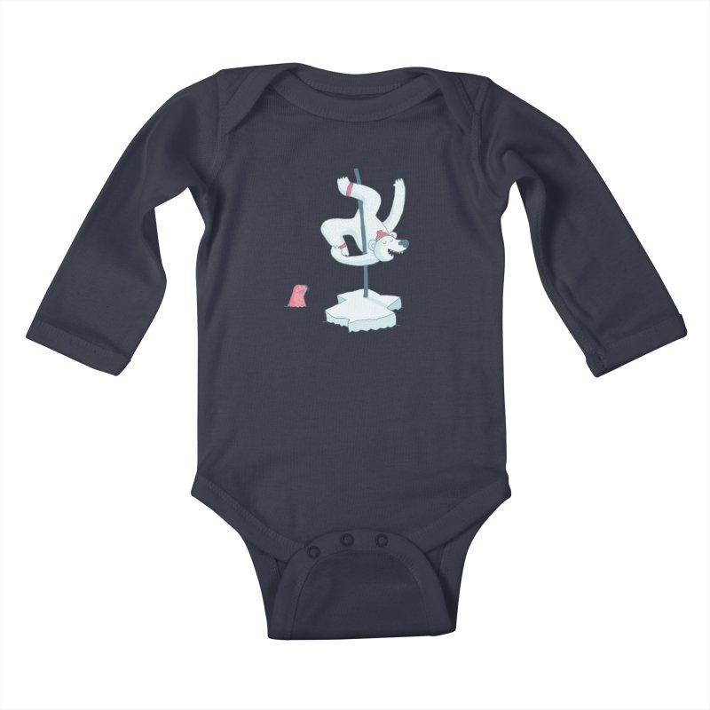 Polar Dance  Kids Baby Longsleeve Bodysuit by MAKI Artist Shop